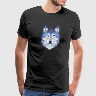 Wolf geometric design - Men's Premium T-Shirt