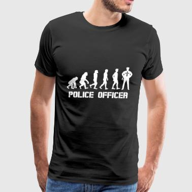 evolution police officer proud life ermergency job - Men's Premium T-Shirt