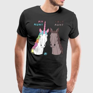 My Your Aunt Unicorn Horse - Men's Premium T-Shirt