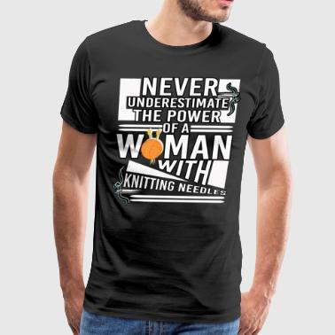 A Woman With Knitting Needles T Shirt - Men's Premium T-Shirt