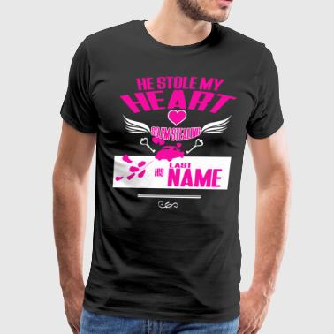 He Stole My Heart T Shirt - Men's Premium T-Shirt