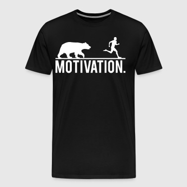 MOTIVATION - Bear Chasing Jogger - Men's Premium T-Shirt