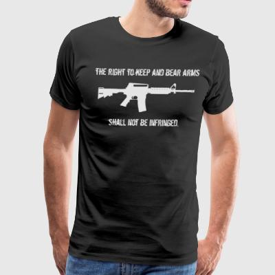 Right To Bear Arms Second Amendment Gun Shirt - Men's Premium T-Shirt