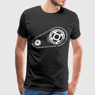 My Bike Is Powered By Positive Thinking - Men's Premium T-Shirt