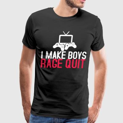 i make boys rage quit t-shirts - Men's Premium T-Shirt