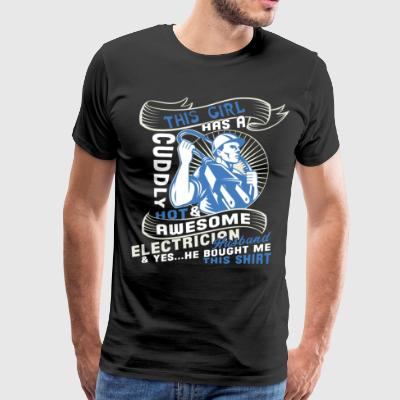 This Girl Has An Awesome Electrician T Shirt - Men's Premium T-Shirt