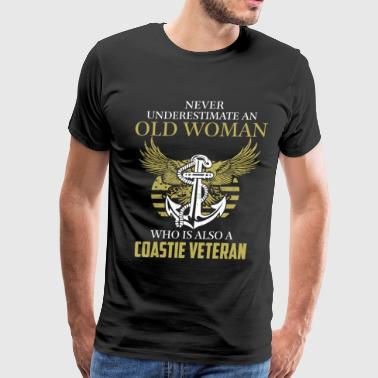 Coastie veteran woman - Never underestimate - Men's Premium T-Shirt