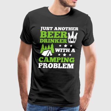 Beer Drinking With A Camping Shirt - Men's Premium T-Shirt