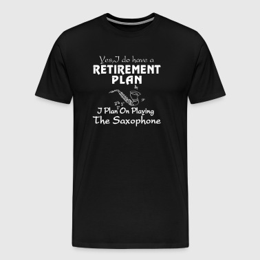 Playing The Saxophone - Men's Premium T-Shirt