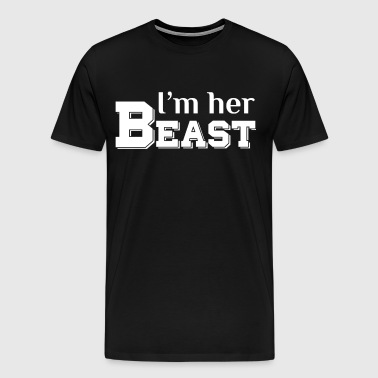 I'm Her Beast Matching Couple T Shirts - Men's Premium T-Shirt