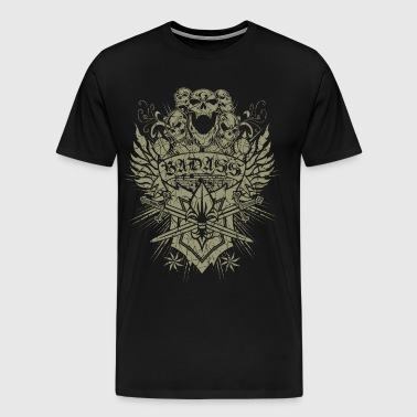 Badass Skulls Knives - Men's Premium T-Shirt
