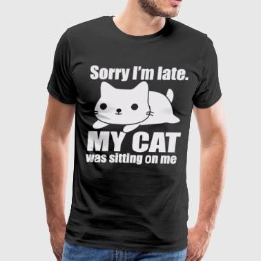 My cat was sitting on me - Men's Premium T-Shirt