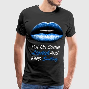 Blue lips (white) - Men's Premium T-Shirt