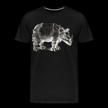 rhinoceros of durer white illustration animal - Men's Premium T-Shirt