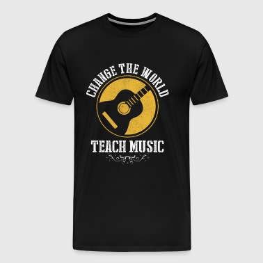Music Guitar Teacher Gift - Men's Premium T-Shirt