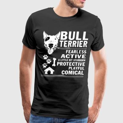 I Love My Bull Terrier T Shirt - Men's Premium T-Shirt