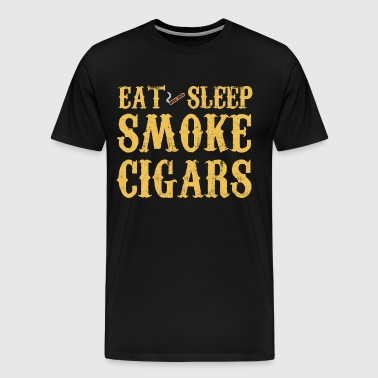 Eat Sleep Smoke Cigars - Men's Premium T-Shirt
