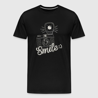 Retro Camera Smile - Men's Premium T-Shirt