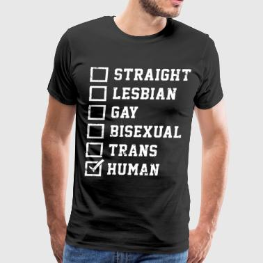 Straight Lesbian Gay Bisexual Trans Humans Checkli - Men's Premium T-Shirt