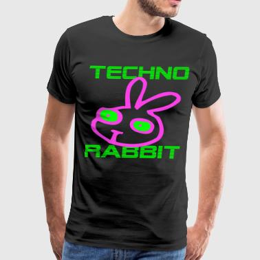 Techno Rabbit - Men's Premium T-Shirt