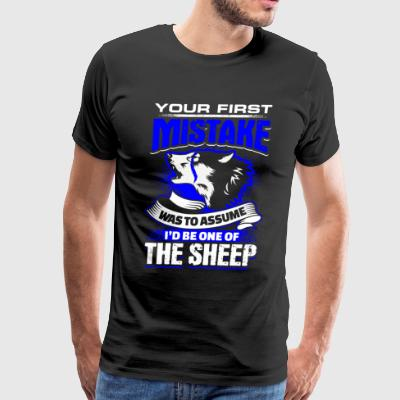 Your First Mistake - Blue Line - EN - Men's Premium T-Shirt