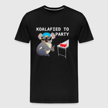 Koalalfied to Party Funny Drinking T-shirt - Men's Premium T-Shirt