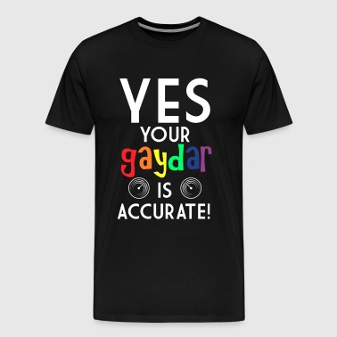 Gay Pride GAYDAR - Men's Premium T-Shirt