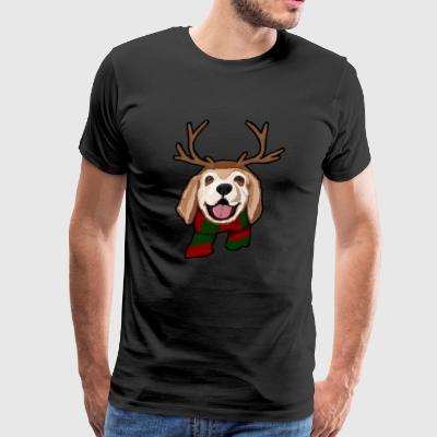 Reindeer Dog Christmas - Men's Premium T-Shirt
