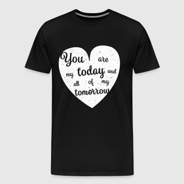 Love Heart Couple Lovers Marriage - Men's Premium T-Shirt