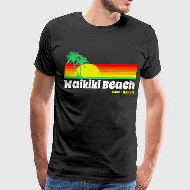 Waikiki Beach Oahu - Men's Premium T-Shirt