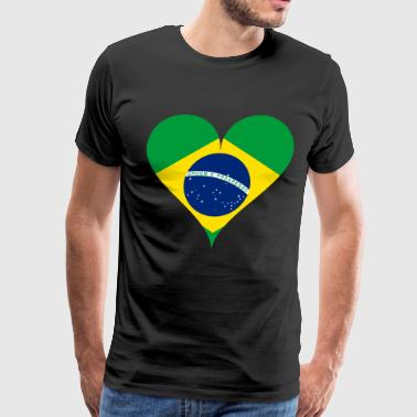 Love Brazil - Heart World Fan 2018 Soccer - Men's Premium T-Shirt