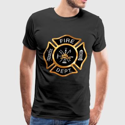 Gold Firefighter Emblem - Men's Premium T-Shirt