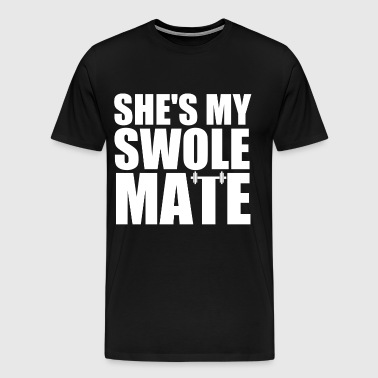 SHE'S MY SWOLEMATE - Men's Premium T-Shirt