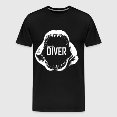 Scuba Diver  Diving Tshirt - Megaladon Shark Jaws  - Men's Premium T-Shirt