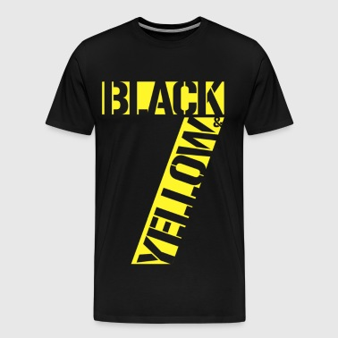 Black & Yellow - Men's Premium T-Shirt