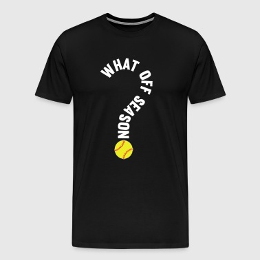 What Off Season Softball Player T-Shirt - Men's Premium T-Shirt