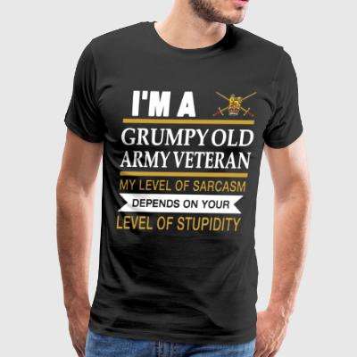 I m a grumpy old army veteran my level of sarcasm - Men's Premium T-Shirt