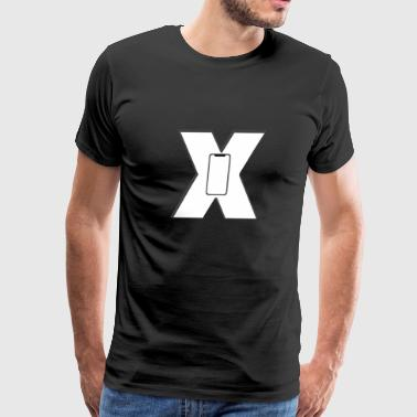 iPhone x iphone mobile apple stylish cool - Men's Premium T-Shirt
