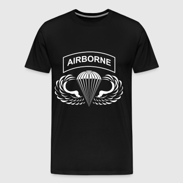 airborne hardcore white - Men's Premium T-Shirt