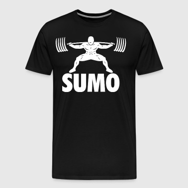Sumo Powerlifting Squat - Men's Premium T-Shirt