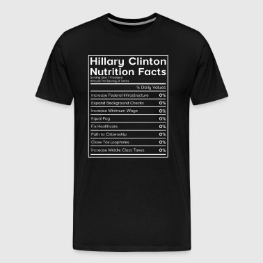 Hillary Clinton Nutrition Facts (0%) T-Shirt - Men's Premium T-Shirt