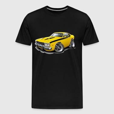 1973-74 Roadrunner Yellow Car - Men's Premium T-Shirt