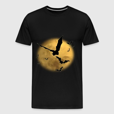 Halloween Bats in the Evening - Men's Premium T-Shirt