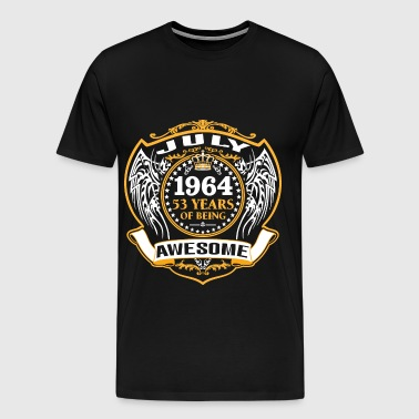 1964 53 Years Of Being Awesome July - Men's Premium T-Shirt