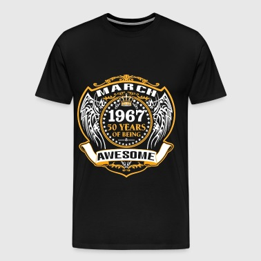 1967 50 Years Of Being Awesome June - Men's Premium T-Shirt