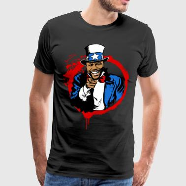 Floyd Mayweather Uncle Sam IRS Tax (Red Circle) - Men's Premium T-Shirt