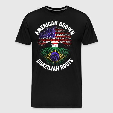 American Grown Brazilian Roots - Men's Premium T-Shirt