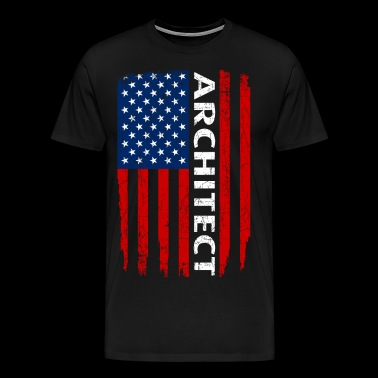 American Flag Architect Pride - Men's Premium T-Shirt