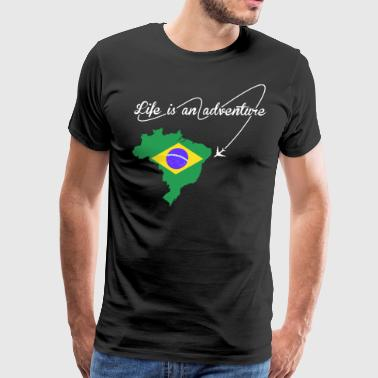 Brazilian Life Is An Adventure - Men's Premium T-Shirt