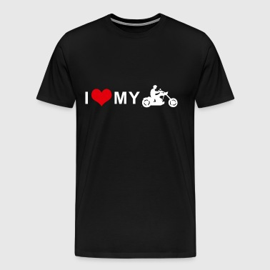 I LOVE MY MOTORCYCLE - Chopper Cruiser - Men's Premium T-Shirt